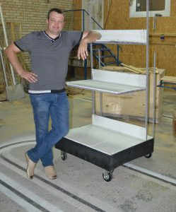 агрегатирование складского стелажа роботом БУКСИР